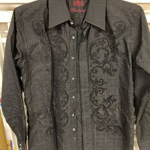 Fancy men's button down shirt, famous designer
